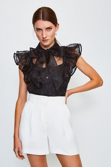 Black Organza Blouse