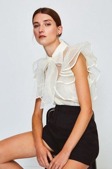 Ivory Organza Blouse