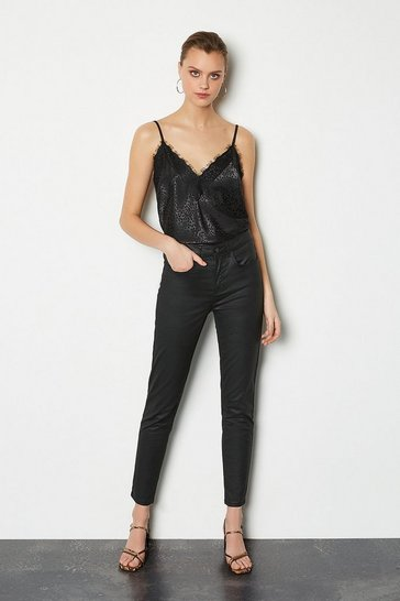 Black Coated Skinny Jean