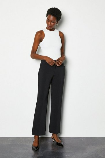 Black Essential Straight Leg Trouser