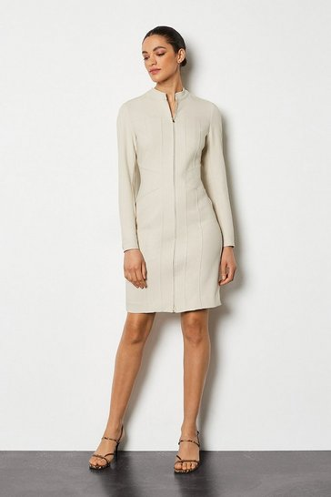 Light stone Tailored Track Dress