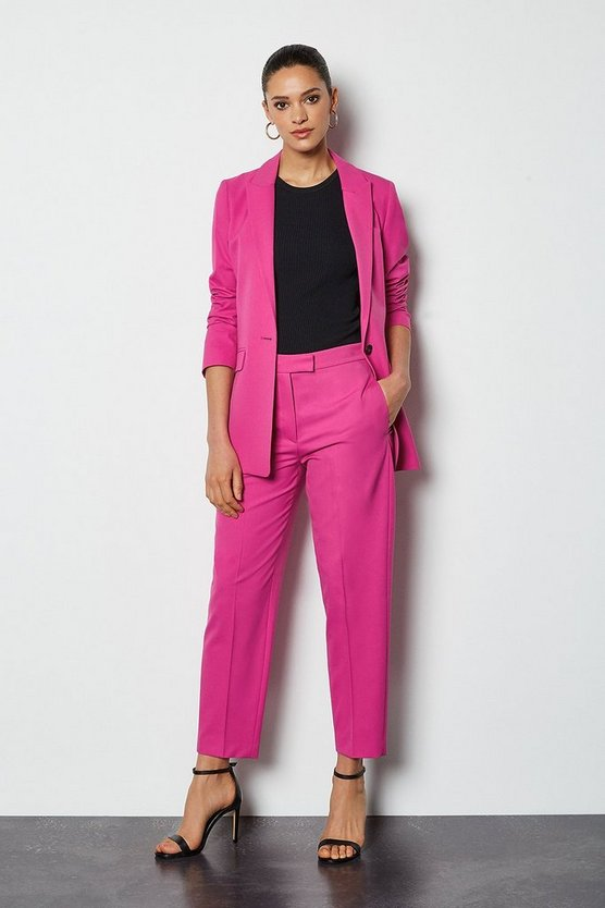 Pink Tailored Suit Trouser