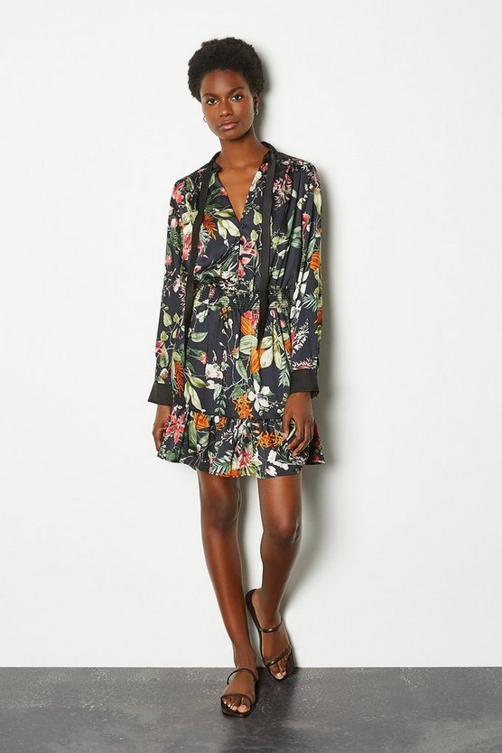 Floral Bloom Short Flippy Dress
