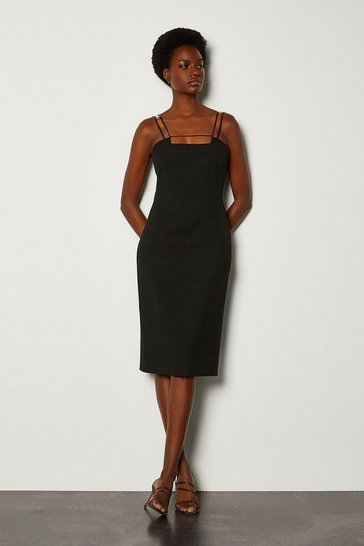 Black Forever Strap & Bar Dress