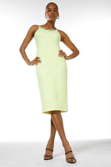 Lime Forever Strappy Pencil Dress