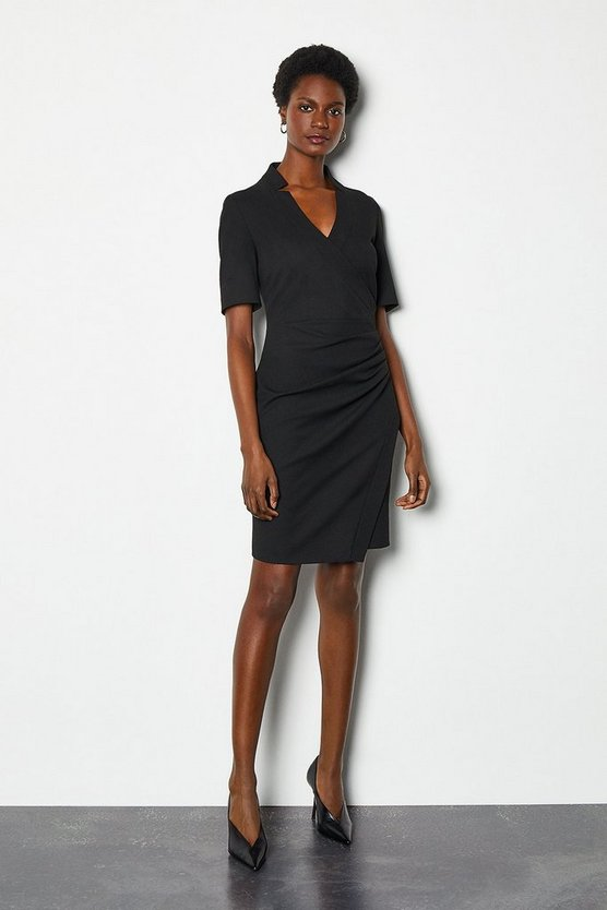 Black Forever Short Wrap Dress