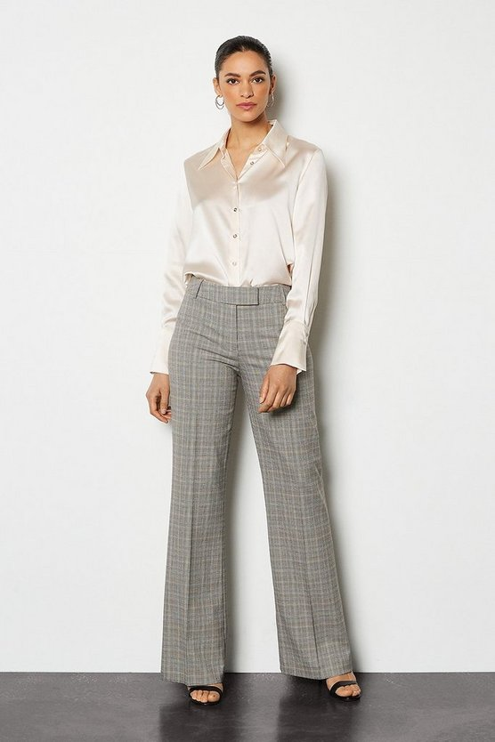 Blackwhite Check Straight Leg Trouser