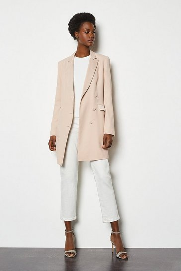 Blush Double-Breasted Tuxedo Jacket