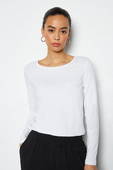 White Essential Long Sleeve Tee