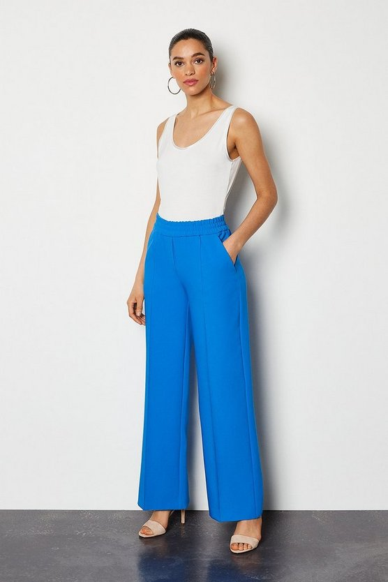 Cobalt Tailored Track Style Trousers