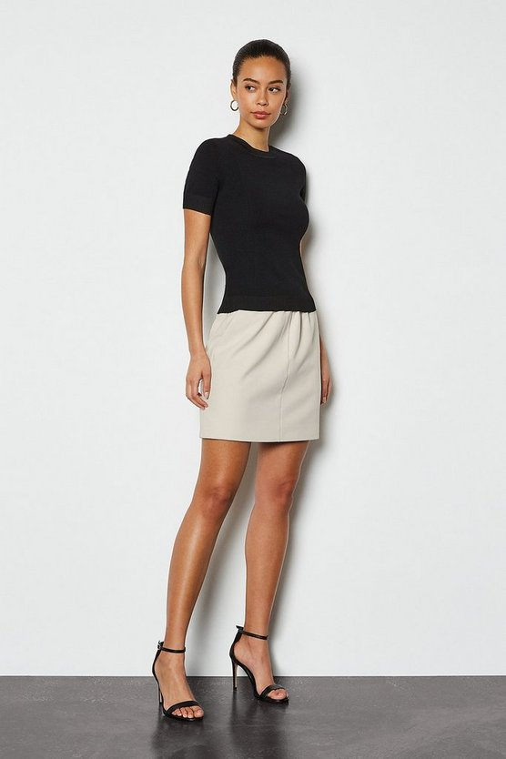 Stone Tailored Track Mini Skirt