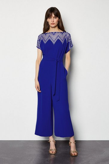 Blue Diamond Lace Jumpsuit