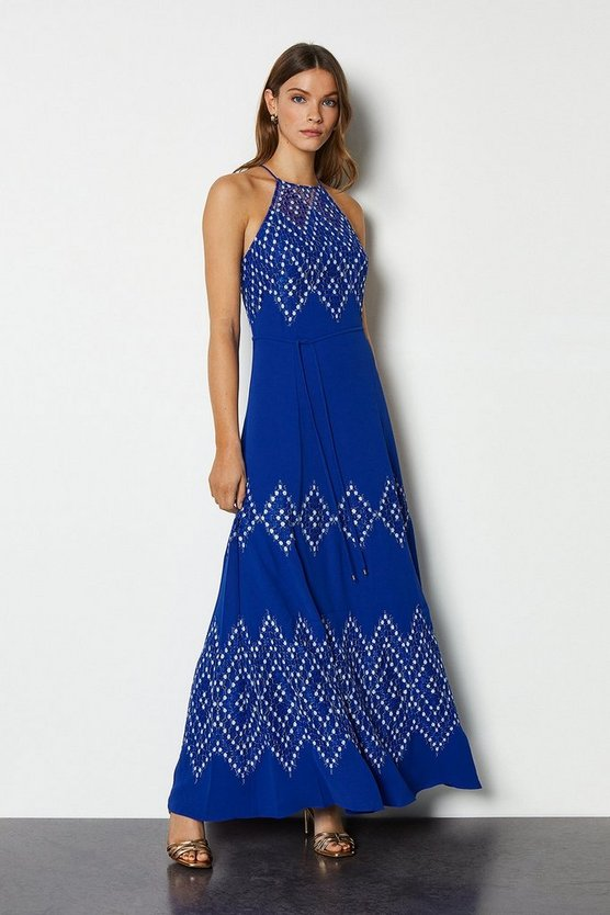 Blue Diamond Lace Dress