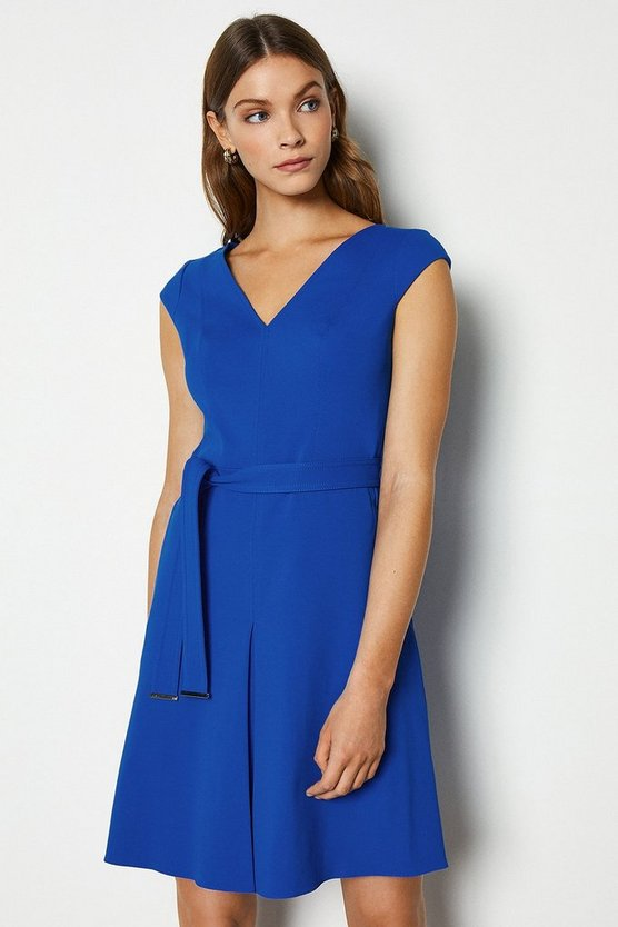 Blue Compact Jersey Day Dress