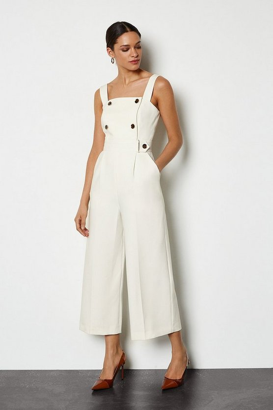 Ivory Sleek and Sharp Jumpsuit