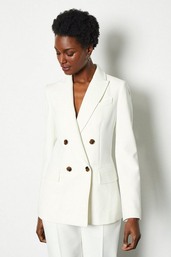 Ivory Sleek And Sharp Jacket