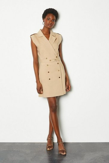 Stone Safari Cotton Sateen Dress