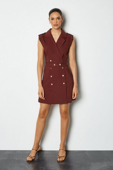 Wine Safari Cotton Sateen Dress
