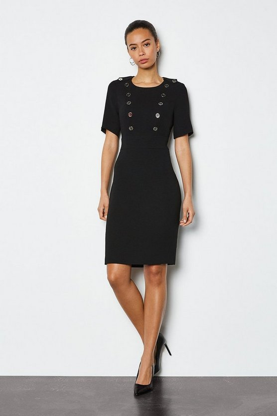Black Military Day Dress