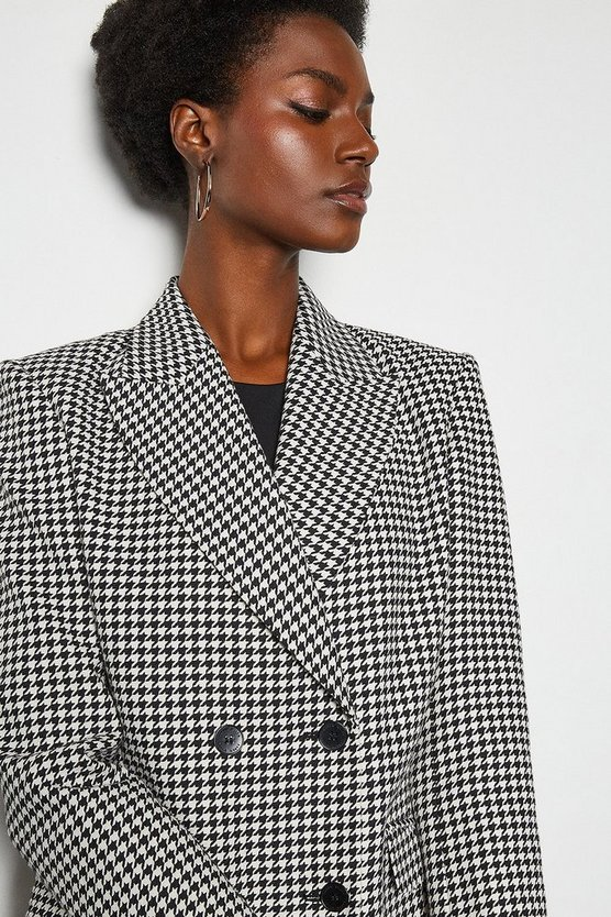 Blackwhite Check Tailored Double Breasted Jacket