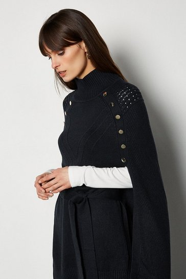 Navy Chunky Metal Work Jumper