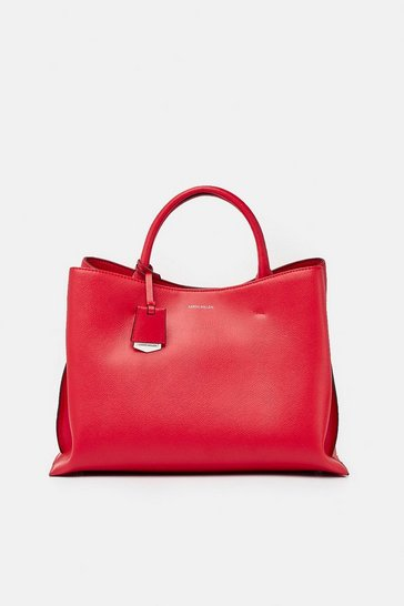 Womens Lipstick Simple Leather Grab Bag