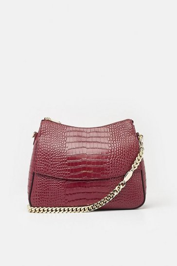Womens Berry Regent Shoulder Bag