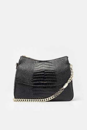 Womens Black Regent Shoulder Bag