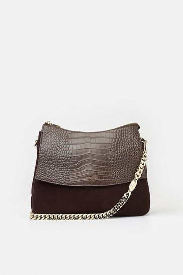 Womens Brown Regent Shoulder Bag