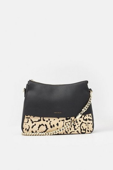 Womens Leopard Regent Shoulder Bag