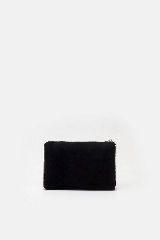 Black Metal Side Detail Clutch