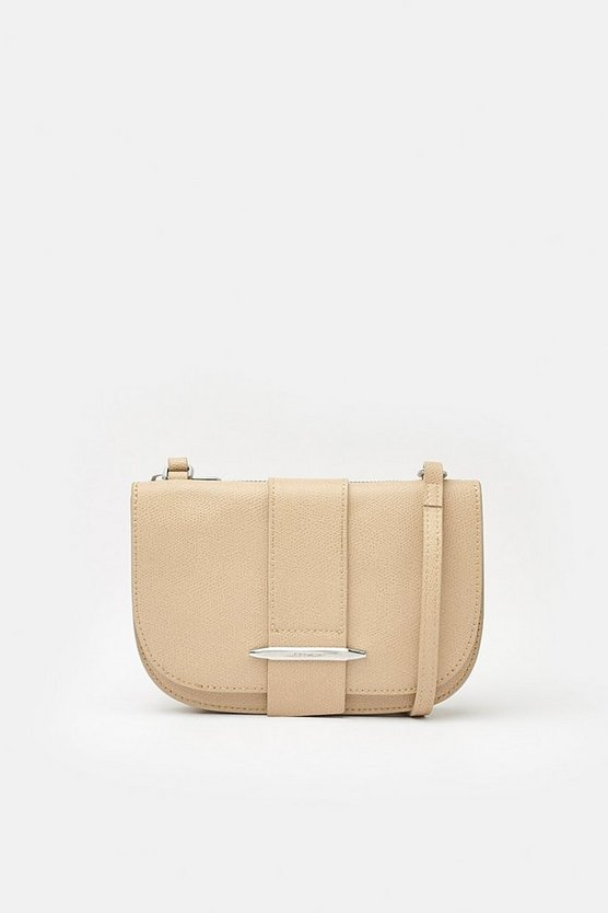 Natural Metal Bar Detail Crossbody Bag