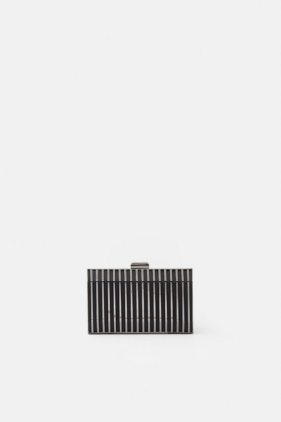 Black Caged Clutch
