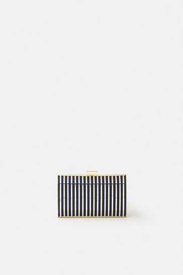 Midnight Caged Clutch