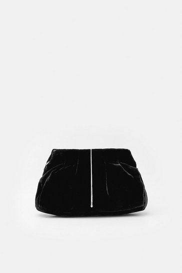 Womens Black Metal Teardrop Detail Clutch