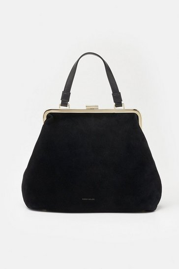 Womens Black Frame Day Bag