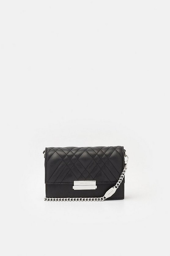 Black Faux Leather Crossbody