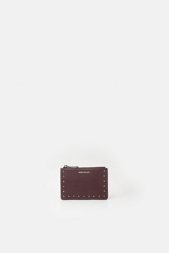 Dark red Zip Coin Purse