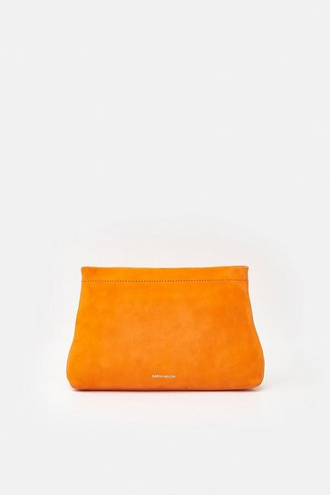 Womens Orange Brompton Clutch