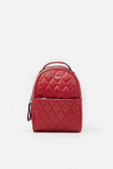 Red Quilted Mini Backpack