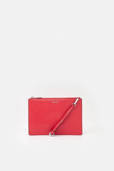 Womens Red Wristlet Pochette