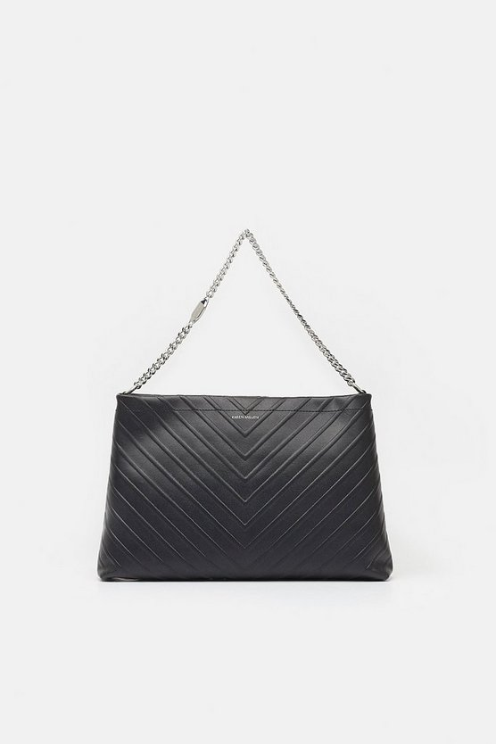Black Chevron Shoulder Bag