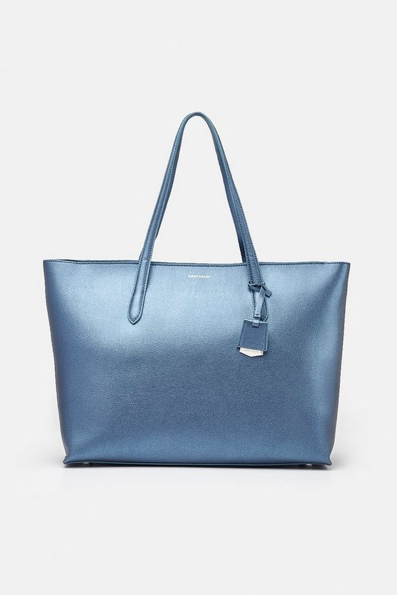 Midnight Textured Tote Bag