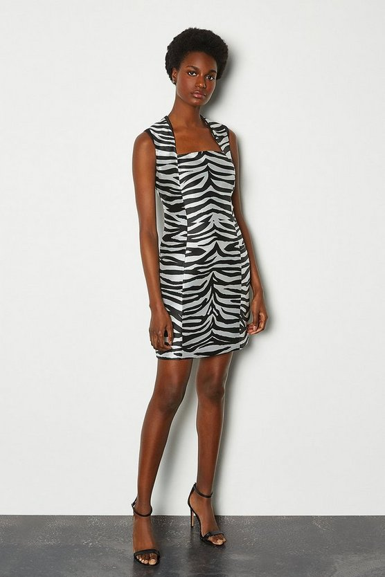 Zebra Jacquard Animal Dress