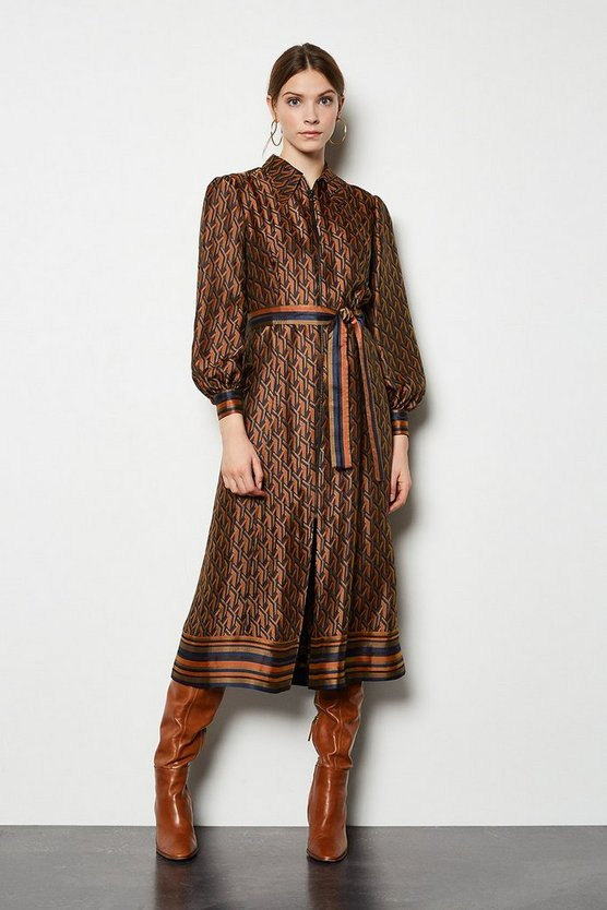 Multi Jacquard Shirt Dress