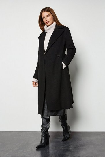 Black Belted Investment Coat