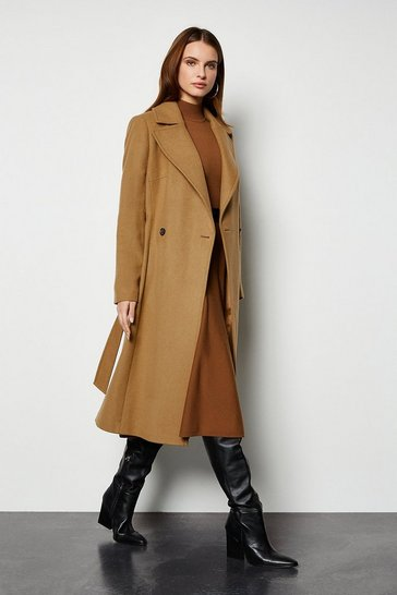 Camel Belted Investment Coat