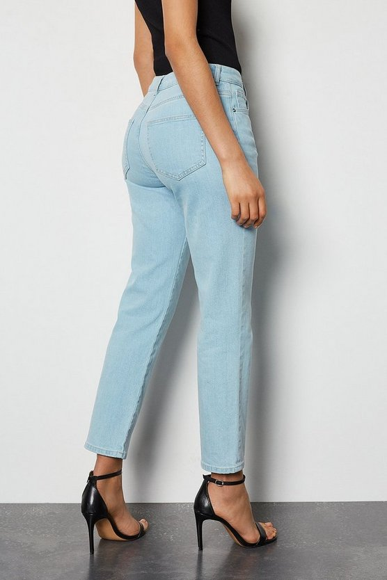 Light blue Organic Slim Cigarette Light Bleach Jeans