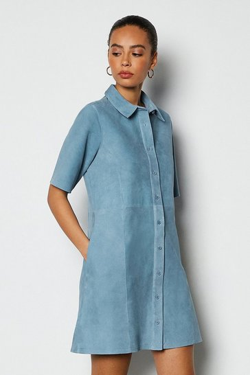 Blue Suede Tennis Dress