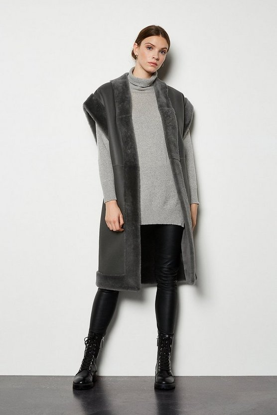 Mink Oversized Sheepskin Reversible Coat
